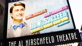 How to Succeed Opening Night  marquee