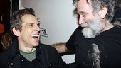 Ben Stiller congratulates his Night at the Museum co-star Robin Williams after a moving performance in Bengal Tiger at the Baghdad Zoo.