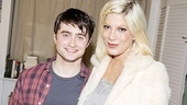 Did Daniel Radcliffe and 90210 alum Tori Spelling compare notes on surviving early stardom? In any case, Tori loved seeing Dan in How to Succeed.