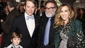 Catch Me If You Can Opening Night  Matthew Broderick  Sarah Jessica Parker  James Wilkie Broderick  Robin Williams