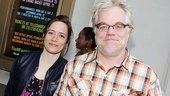 LAByrinth Theater Company co-founder Philip Seymour Hoffman (with his longtime love, Motherf**ker costume designer Mimi O'Donnell) is thrilled about the Broadway debut of frequent collaborator Stephen Adly Guirgis.