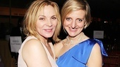 Kim Cattrall, who has appeared often on the London stage, congratulates co-director Marianne Elliott.