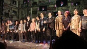 The American Idiot cast steps out for their final bow, as the crowd goes wild.