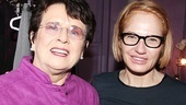 Billie Jean King at The Normal Heart  Billie Jean King  Ellen Barkin 