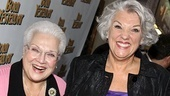 Marilyn Horne and Tyne Daly head into the Cort Theatre. Born Yesterday holds a special place in Tyne Daly's heart: her father was an understudy in the original production when the Tony-winning actress was born!