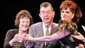 Beth Leavel introduces Mary Jane and Stan Greenberg, the real-life children of her character, to the cheering crowd.