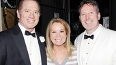 A tuxedoed Tom Wopat is joined by Kathie Lee Gifford and Catch Me musical director John McDaniel. (Gifford and McDaniel are the lyricist and composer for a still-in-development musical version of It's a Wonderful Life.)