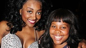 Glee Cast at Sister Act  Patina Miller  Amber Riley