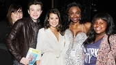 A final shot of Glee's Amber Riley, Chris Colfer, Lea Michele and Amber Riley flanking the fierce and fabulous Patina Miller of Sister Act. Amen!