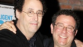 Bravo, Tony Kushner! The playwright embraces his friend and director, Michael Greif.