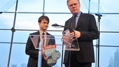 A perfect pair onstage and off: Audience Choice winners Daniel Radcliffe and John Larroquette.