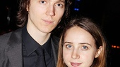 Real-life sweethearts Paul Dano and Zoe Kazan (who will make her NYC debut as a playwright at MTC next season with We Live Here) enjoy the evening.