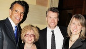 Brian Stokes Mitchell and Tate Donovan are flanked by MTC marketing director Debra Waxman-Pilla and gala producer Lisa McNulty.
