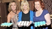 Cupcakes anyone? Judy McLane, Lisa Brescia and Jennifer Perry show off sweets from Magnolia Bakery, a gift to every audience member at Mamma Mia's 4,000th performance.