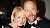 Portrait of happiness: The Normal Heart's winning featured actors Ellen Barkin and John Benjamin Hickey.