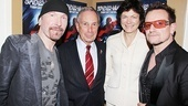 Spider-Man opening  The Edge  Mayor Bloomberg  Diana Taylor  Bono
