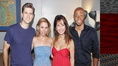 Onstage lovebirds Aaron Tveit and Kerry Butler greet Susan Lucci and her All My Children co-star J.R. Martinez.