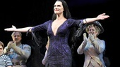 Mama Morticia! Brooke Shields steps out to greet her adoring audience.