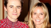 Spider-Man himself, Reeve Carney, swings in to snap a picture with Heidi Klum.
