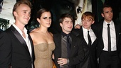 These folks need no introduction to Harry Potter fans: Tom Felton (Draco Malfoy), Emma Watson (Hermione Granger), title star Daniel Radcliffe, Rupert Grint (Ron Weasley) and Matthew Lewis (Neville Longbottom).