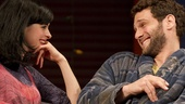 Krysten Ritter as Emma and Justin Bartha as Charlie in All New People.