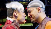 Michael Rodriguez as Angel Schunard and Nicholas Christopher as Tom Collins in Rent.