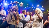 After the nuptials, the onstage Hair dance party proceeds&#8212;and Ryan and Josh steal another kiss. 