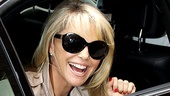 Christie Brinkley Does Chicago in London – Christie Brinkley (car window)