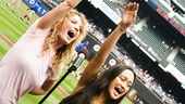 Hair Cast at Mets Game – Kacie Sheik – Kaitlin Kayan