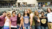 Hair Cast at Mets Game – group shot on field