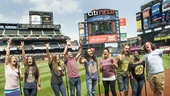 Hair Cast at Mets Game – group peace signs