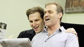 With their Broadway-honed voices, Arcelus and Kudisch sing a powerful duet. 