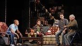 Jonathan Louis Dent, Chris Perfetti, Santino Fontana and Yusef Bulos in Sons of the Prophet.