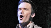 Brian Justin Crum as Lucas Beineke and Cortney Wolfson as Wednesday in The Addams Family.