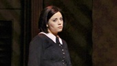 Cortney Wolfson as Wednesday and Patrick D. Kennedy as Pugsley in The Addams Family.
