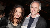 In a meeting of Tony winners, Stockard Channing is congratulated by Jonathan Pryce.