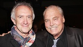 Theatrical heavy hitters Jonathan Pryce and Stacy Keach pose together.