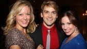 Cast members Kate Rockwell, Neil Haskell and Nikki Bohne are ready to cut loose on opening night.