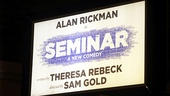 Seminar Opening Night  marquee