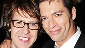 David Turner gets chummy with co-star Harry Connick Jr. on opening night.