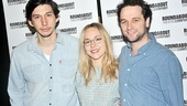 Adam Driver, Sarah Goldberg and Matthew Rhys star in the angst-ridden drama Look Back in Anger, but they're all smiles at the press meet and greet.