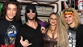 Criss Angel hangs ten with Rock of Ages co-stars Dan Domenech, Michele Mais and Jeremy Woodard.