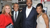 Celebrity guests Kathie Lee Gifford and Reverend Al Sharpton join Samuel L. Jackson and Angela Bassett for a backstage birthday photo.