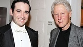 Bill Clinton says hello to Anything Goes star Colin Donnell.