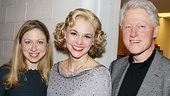 Former President Bill Clinton and his newscaster daughter, Chelsea, think Sutton Foster is the top as Reno Sweeney.