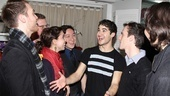 Criss shares Broadway scoop with his pals from Team StarKid. 