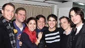 The How to Succeed star comes in close for a portrait with Team StarKid members Joseph Walker, Dylan Saunders, Meredith Stepien, Corey Lubowich, Brian Holden and Joey Richter.