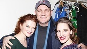 Show-biz siblings Kerry and Mike O'Malley come in close for a photo with On a Clear Day star Jessie Mueller.