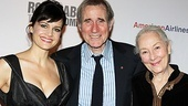 Co-stars Carla Gugino, Jim Dale and Rosemary Harris celebrate a successful opening night.