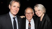 Road to Mecca star Jim Dale puts an arm around set designer Michael Yeargan and costume designer Susan Hilferty.